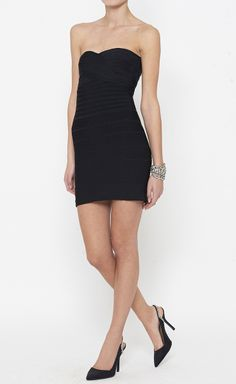 Herve Leger Black Dress