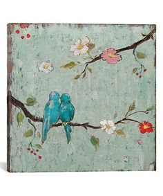 Look what I found on #zulily! Love Birds IV Gallery-Wrapped Canvas #zulilyfinds