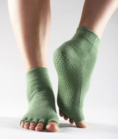 Socks for yoga with grips on the bottom. GREAT idea!