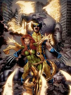 Wolverine & Jean Grey by JAY ANACLETO ART