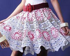 Tina's handicraft : crochet skirt with flowers
