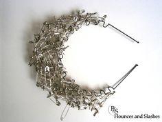 Safety Pin Crown | Community Post: 24 Safety Pin Fashion DIYs That Rock