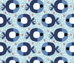 Striped fish fabric by ottomanbrim on Spoonflower - custom fabric