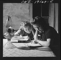 Time to study - Vintage College Photos
