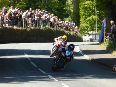 Bruce Anstey and Cameron Donald at TT 2013.