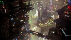 ArtStation - julien berneron's submission on Beyond Human - Film/VFX Matte Painting Futuristic City, Futuristic Architecture, High Tech Low Life, Fantasy Landscape, Fantasy Art, Matte Painting, Shadowrun, Award Winner, Cyberpunk