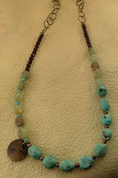 This necklace is composed of turquoise by WesternAdornmentsCO, $54.00