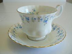 Royal Albert Memory Lane Cup and Saucer by Saltofmotherearth, $10.00