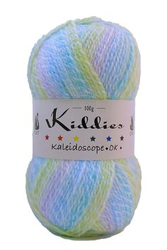 Cygnet Kiddies Kaleidoscope DK - gently striping marbled baby yarn. Shade: Rainbow Drops