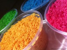 color rice tubs