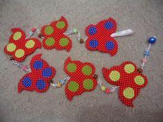 MissFelicidade Lembrancinhas-Atelier da Tati: Móbile borboletas de poá