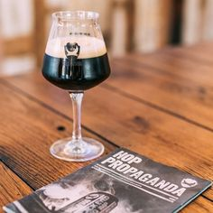 Light reading, dark beer.  Match made in heaven.  #brewpix #brewdog #instabeer…