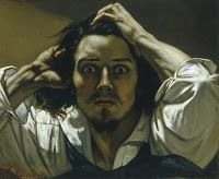 The Desperate Man (Self-Portrait) by Gustave Courbet- Famous Art - Handmade Oil Painting on Canvas — Canvas Paintings - art - Kunst Caravaggio, Oil Painting On Canvas, Painting & Drawing, Canvas Canvas, Canvas Paintings, Famous Self Portraits, Gustave Courbet, French Paintings, Famous Art Paintings