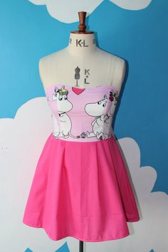 Hey, I found this really awesome Etsy listing at https://www.etsy.com/listing/157255808/2-tone-moomins-sweet-heart-dress-all