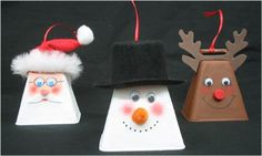 12 Christmas Craft ideas...a round-up from blogs - the cow bell ornaments may be my favorite.