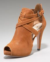 One day, I fell in love with a camel leather peep toe bootie...