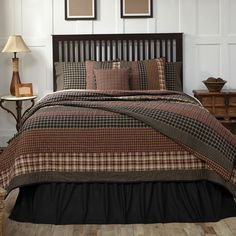Beckham is a simple patchwork stripe quilt that blends with our popular natural burlap window treatments, Country Porch Home Decor has a great quilt selection and their helpful staff is happy to help you select just the right quilt for your home. 1-866-664-9182