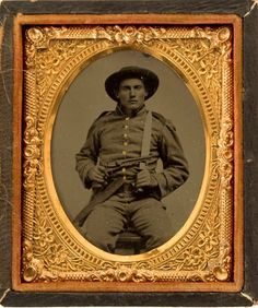 Well armed Confederate soldier with a rare Fluted Colt army .44 Cal. and an Arkansas toothpick…