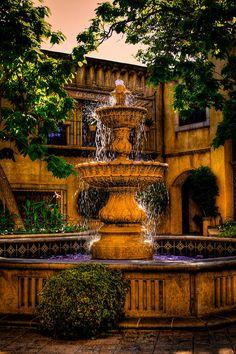The Fountain At Patio Del Norte Tlaquepaque In Sedona Photograph