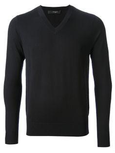 GIVENCHY - Dark navy v-neck sweater   #givenchy #Givenchy #givenchymen #menstyle www.man.jofre.eu