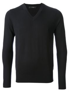 GIVENCHY - Dark navy v-neck sweater   #givenchy #Givenchy #givenchymen #menstyle www.man.jofre.eu