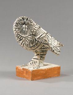 Pablo Picasso, La Chouette - 1953 on ArtStack Pablo Picasso, Art Picasso, Picasso Paintings, Henri Matisse, Henri Rousseau, Paul Gauguin, Ceramic Animals, Ceramic Art, Cubist Movement