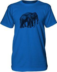 Mintage Elephant Friends Mens Fine Jersey Tall T-Shirt
