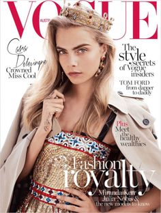 Cover with Cara Delevingne October 2013 of AU based magazine Vogue Australia from Condé Nast Publications including details. Vogue Covers, Vogue Magazine Covers, Fashion Magazine Cover, Fashion Cover, Foto Fashion, Vogue Fashion, Trendy Fashion, Fashion Models, High Fashion