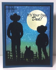 Hi Crafty Friends, I have another Father's Day card to share with you all today. I know Father's Day is over in the Northern Hemisp. Australian Christmas Cards, Western Theme, Western Cowboy, Distress Oxide Ink, Fathers Day Cards, Man Birthday, Paper Roses, Masculine Cards, Greeting Cards