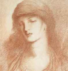 'Head of a Woman' by Simeon Solomon