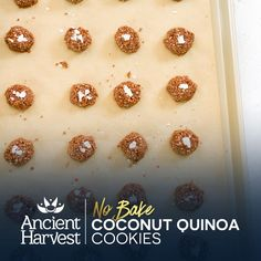 Enjoy these delicious No Bake Coconut Quinoa Cookies by Eating Bird Food. Pin for a chance to win BIG in the Ancient Harvest #QuinoaCookieSwap. Learn more on facebook.com/AncientHarvest