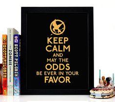 Hunger games, movie, film, pop culture, books, read, novels, keep calm, wall art, giclee, home decor, kids room, house