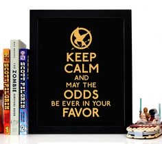 Hunger games, movie, film, pop culture, books, read, novels, keep calm, wall art, giclee, home decor, kids room, house