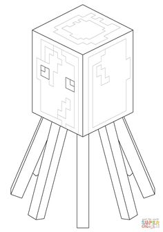Minecraft Coloring Pages Printable Wither Boss Coloring