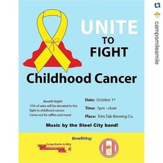 #Repost @campsmileamile with @repostapp.  Don't miss out on the awesome event! Come out to Trim Tab Brewing Company tomorrow night starting at 7:00 to support Camp Smile-A-Mile and Open Hands Overflowing Hearts. You'll get to drink some awesome local beer and help raise money to fight childhood cancer! #campsam #endchildhoodcancer