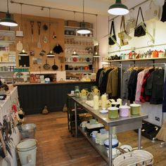 Labor and Wait store in London.  Heaven! Beautifully crafted, timeless, everyday tools.  All natural materials.
