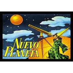 Buyenlarge 'Nuevo Planeta' Framed Vintage Advertisement
