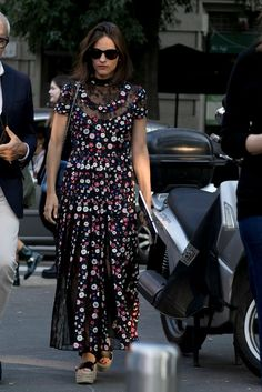Maria Duenas Jacobs wearing Valentino.                  Image Source: IMAXTREE / VincenzoGrillo