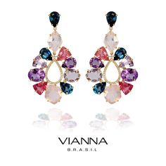 *AQUARELLE COLLECTION*  This line makes reference to the painting technique where the pigments are floating on water. The shape of the gemstones remit to tiny watercolor drops in different hues. The Aquarelle earrings are made in 18K yellow gold, set with Lavender Amethyst, Amethyst, London Blue Topaz, Rose Quartz, Pink Tourmaline and Diamonds. Just Breathtaking!  >> Visit our store today and be absolutely inspired by our collections! <<