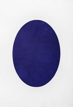 Òval blau 2014 - Mezzotint engraving blue east 111 x 76 cm. (paper) 70 x 50 cm. (plate)Òval blau