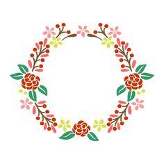 Floral Wreath Cuttable Design