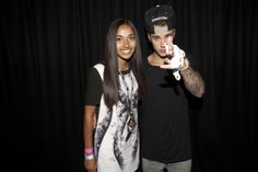 justin bieber with girl