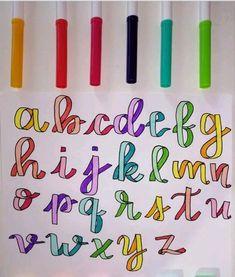 Bullet Journal Lettering Ideas, Bullet Journal Banner, Journal Fonts, Bullet Journal Notebook, Bullet Journal Ideas Pages, Bullet Journal Inspiration, Hand Lettering Tutorial, Hand Lettering Alphabet, Alphabet Fonts