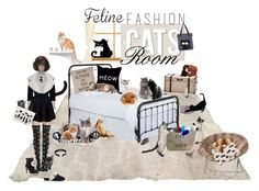 """Fun With Cats"" by fsg-designs ❤ liked on Polyvore featuring HomArt, Pottery Barn, Chictopia, Accessorize, Bling Jewelry, PBteen, Jean Patou, BCBGMAXAZRIA, UGG and Kate Spade"