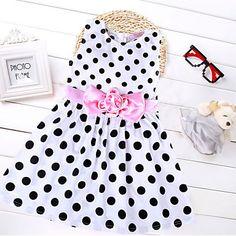 Girl's Doll Collar Princess Dress – BRL R$ 59,95