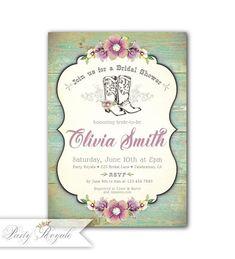 cowboy boots birthday party invitations 17482 western themed bridal shower invitations pinterest cowboy boots themed bridal showers and bridal