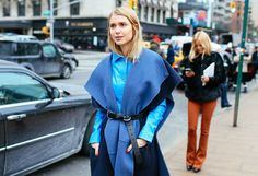 Pernille Teisaek wearing #AcneStudios Serva belt (http://www.acnestudios.com/shop/women/accessories/serva-waist-black.html) at New York Fashion Week #NYFW