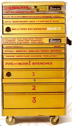 """von dutch-lettered Snap-On toolbox..."" found on monoscope.com"