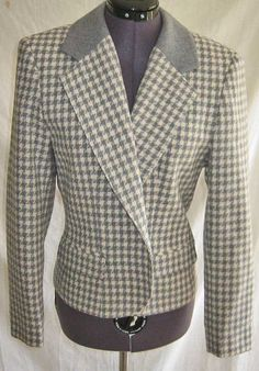 Vintage 70s Miss Pendleton Cropped Wool Check Jacket Blazer New without Tags 4 by backtocapri on Etsy https://www.etsy.com/listing/98913161/vintage-70s-miss-pendleton-cropped-wool