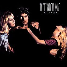 Fleetwood Mac's 1982 album, Mirage. The band consisted of Lindsey Buckingham, Stevie Nicks, Christine McVie, John McVie, and Mick Fleetwood.